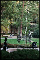 Sculpture Garden, University of California at Los Angeles, Westwood. Los Angeles, California, USA ( color)