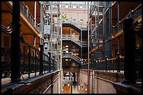 Interior of Bradbury Building. Los Angeles, California, USA ( color)