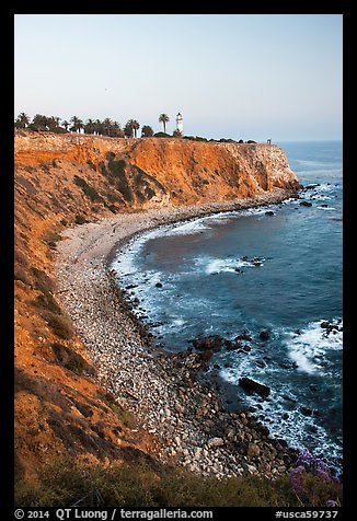 Point Vicente Lighthouse and coastline. Los Angeles, California, USA (color)
