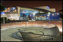Aquarium of the Pacific facade at night. Long Beach, Los Angeles, California, USA ( color)