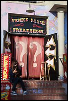 Freak Show, Ocean Front Walk. Venice, Los Angeles, California, USA ( color)