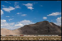 Freight train in desert. California, USA ( color)