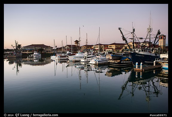 Ventura harbor at dawn. California, USA (color)