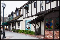 Andersen's half-timbered building. California, USA ( color)