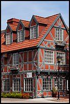 Red half-timbered building. Solvang, California, USA ( color)