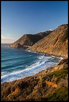 Cove and bridge in late afternoon. Big Sur, California, USA ( color)