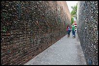 Alley lined with chewed gum left by passers-by. California, USA ( color)