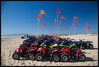Dune buggies for rent, Pismo Beach, Oceano. California, USA ( color)