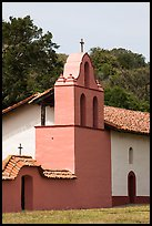 Bell tower, La Purisma Mission. Lompoc, California, USA ( color)