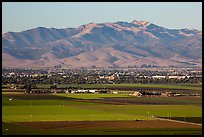 Agricultural lands and Salinas Valley. California, USA ( color)
