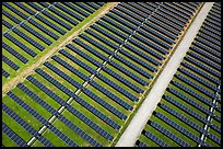 Aerial view of solar park. San Jose, California, USA ( color)