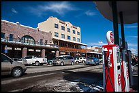 Gas station and street, Truckee. California, USA ( color)