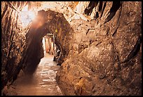 Mine gallery carved in rock, Gold Bug Mine, Placerville. California, USA ( color)