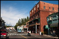 Brick building and main street, Placerville. California, USA ( color)