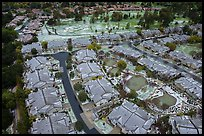 Aerial view of Villages Country Club after hailstorm. San Jose, California, USA ( color)