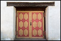 Decorated wooden door, Mission San Miguel. California, USA ( color)