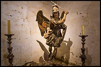 Statue of archangel San Miguel slaying dragon. California, USA ( color)