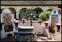 Outdoor altars and cross. California, USA ( color)