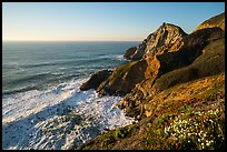 Devils slide, late afternoon. San Mateo County, California, USA ( color)