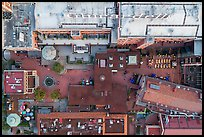 Aerial view of Ghirardelli Square courtyard looking down. San Francisco, California, USA ( color)