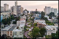 Aerial view of Lombard Street area. San Francisco, California, USA ( color)
