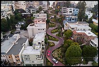 Aerial view of Lombard Street. San Francisco, California, USA ( color)