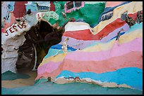 Rainbow walls, Salvation Mountain. Nyland, California, USA ( color)