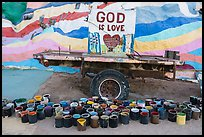 Paint and God is Love sign, Salvation Mountain. Nyland, California, USA ( color)
