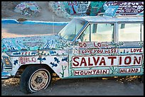 Painted car, Salvation Mountain. Nyland, California, USA ( color)