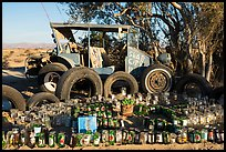 Exhibit made of recycled materials, Slab City. Nyland, California, USA ( color)