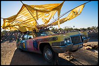 Car transformed into artwork, Slab City. Nyland, California, USA ( color)
