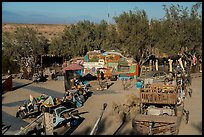 East Jesus art installation from above, Slab City. Nyland, California, USA ( color)