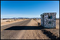 Road leading to Slab City. Nyland, California, USA ( color)