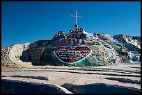 Frontal view of Salvation Mountain. Nyland, California, USA ( color)
