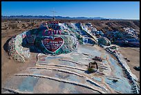 Aerial view of Salvation Mountain. Nyland, California, USA ( color)