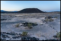 Amboy Crater at dawn. Mojave Trails National Monument, California, USA ( color)