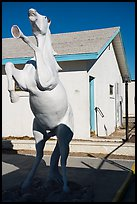 Horse sculpture, Amboy. California, USA ( color)
