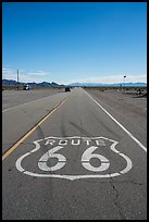 Route 66 marking, Amboy. California, USA ( color)