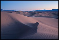 Cadiz Wilderness Sand Dunes and Shiphole Mountains at dusk. Mojave Trails National Monument, California, USA ( color)