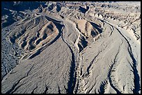 Aerial view of dry wash, Afton Canyon. Mojave Trails National Monument, California, USA ( color)