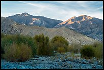 San Gorgonio Mountain from Whitewater Preserve, sunset. Sand to Snow National Monument, California, USA ( color)