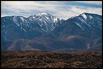 Mount San Antonio and San Gabriel Mountains from Cajon Pass. San Gabriel Mountains National Monument, California, USA ( )