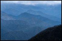 Blue ridges. San Gabriel Mountains National Monument, California, USA ( )