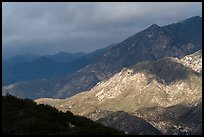 Light and shadows on mountains. San Gabriel Mountains National Monument, California, USA ( color)