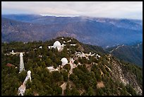Aerial view of Mount Wilson observatory. San Gabriel Mountains National Monument, California, USA ( color)