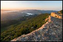 Annies Rock on the Blue Ridge with distant Lake Berryessa. Berryessa Snow Mountain National Monument, California, USA ( )