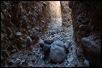 Conglomerate rock slot canyon, Afton Canyon. Mojave Trails National Monument, California, USA ( )