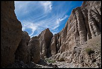 Steep eroded canyon in badlands, Afton Canyon. Mojave Trails National Monument, California, USA ( color)