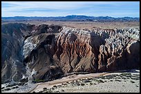 Aerial view of Afton Canyon walls. Mojave Trails National Monument, California, USA ( color)