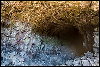 Skull Cave entrance. Lava Beds National Monument, California, USA ( color)